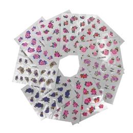 colagem de rendas Desconto DIY nail stickers decoração Prego Applique Adesivo Flor Rattan Etiqueta Rendas Design Colar 2U0705
