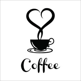 home decor Coffee shop sign modern wall decor decals home decorations 361 kitchen removable vinyl wall art diy decorative wall stickers