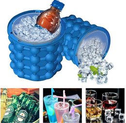 Wholesale Hot Superhero Costumes - Hot Silicone Ice Cube Maker Genie The Revolutionary Space Saving Ice Cube Maker Ice Genie Kitchen Tools for Chilling Burbon for wine,juice