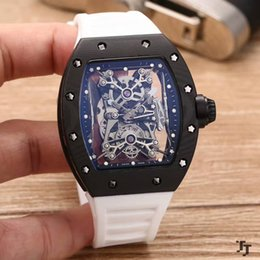 Wholesale White Rubber Swiss Watch - Top luxury brand business to send your watch Swiss brand RM27-01 904L Case automatic mechanical natural rubber strap mineral tempered glass