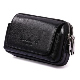 belt cases cell phones Coupons - Men Cowhide Genuine Leather Military Cell  Mobile Phone Cover Case Skin Hip Belt Bum Purse Fanny Pack Waist Bag Pouch