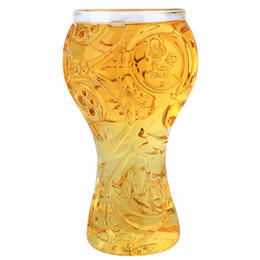Wholesale Round Whiskey Glass - 2018 World Cup Russian Football Gothic Glass Cup Party Creative Drinking Glass Authentic 3D Wine Glasses Mug Bar Whiskey Glasses Free Ship