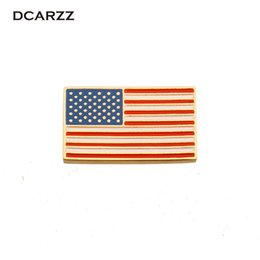 women lapel pin Promo Codes - DCARZZ USA Flag Badge Brooches Lapel Pin Country Badges Enamel PinsFashion Jewelry Brooches for Women Cute Gift
