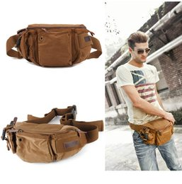 Wholesale Hockey Belts - 2 Style Men's Fashion Sports Multi-purpose Waist Bag Canvas Pack Chest Pack Waistpacks with Adjustable Belt Free Shipping G175S
