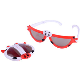 Wholesale Sports Sunglasses Folding - New Pattern Cartoon Ladybug Animal Modeling Sunglasses Children Folding And Deformed Glasses Boy And Girl Popular Funny Toy 2lh W