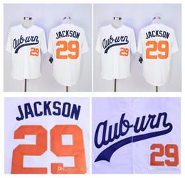 Men s cheap Auburn Tigers Bo Jackson Jersey VINTAGE Baseball jersey White   29 Bo Jackson Auburn Tigers University Jerseys Free shipping ! cheap  vintage ... 68ec24260