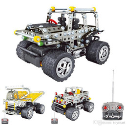 Wholesale Vehicle Toys Wholesale - 3D Assembly Metal Model Kits Toy Armored car Hummer Camouflage car Jeep Off-road Vehicle Accessories Construction Play Set