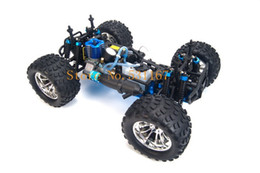 Wholesale 4wd Rc Trucks - Wholesale-HSP Rc Truck 1 10 4wd Nitro Gas Power Off Road Monster Truck Remote Control Car High Speed 4X4 Remote Control Toys