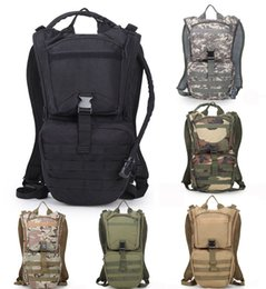 Wholesale military tactical camping shoulder bag - Tactical Water Bag Outdoor Camouflage Sports Shoulders Bag Military Daypack For Cycling Running Climbing Hunting Water Bag Free DHL G585F