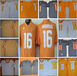 Wholesale Peyton Manning Jersey Xxl - Mens NCAA Tennessee Volunteers #1 Jalen Hurd College Football Jerseys #11 Joshua Dobbs #16 Peyton Manning Stitched Jersey