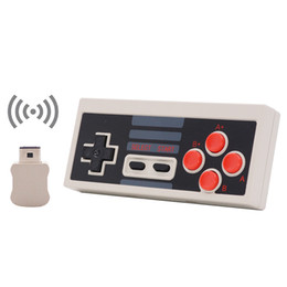 Wholesale classic gamepad - Mini Game Joystick Wireless Turbo Controller USB Plug and Play Gaming Gamepad for NES Classic Edition for Nintendo NS 30pcs lot