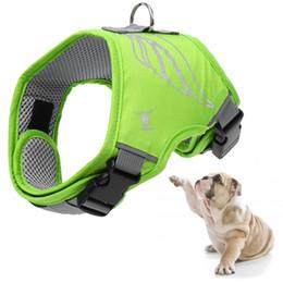 Wholesale Buckle Vests - Petacc Breathable Dog Vest Adjustable Dog Harness Reflective Chest Strap with D-shaped Metal Buckle