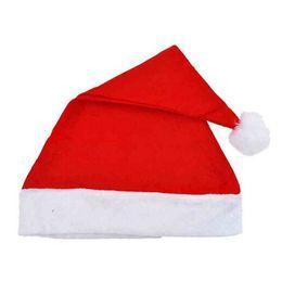 Wholesale Santa Dress Adult - 1 pc 2017 Adults and Kids Christmas Caps Thick Ultra Soft Plush Santa Claus Holidays Fancy Dress Hats Fashionable Design Cap
