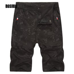 Wholesale 6xl Tactical - 2017 Summer Men's Casual Camouflage Shorts Loose Tactical Cargo Shorts Polyester knee length Army Plus Size L-8XL 812