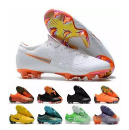 peach new mercurial superfly Promo Codes - 2018 New Mercurial Superfly VI 360 Elite FG XII Women Kids Mens Soccer Cleats Shoes Neymar chaussures Crampons de Football Shoes 35-45