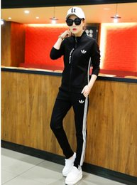 Wholesale Sportswear Volleyball - Hot selling autumn fashion suit female Parental Advisory Explicit Content sportswear suit black and white letters Free shipping