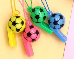 Wholesale toy football games - Cheerleading Whistle Football Whistles Children'S Toy Game Supplies Sports Accessories Neck Rope Party Sports Popular Color Plastic G547R