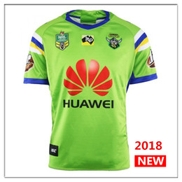Wholesale Raiders Shirt L - Newest 2018 2019 Home away rugby Jerseys NRL National Rugby League rugby shirt nrl jersey 18 19 canberra raider s shirts s-3xl