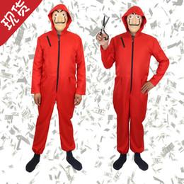 Roupas yiwu on-line-Halloween COS roupas, roupa de palhaço macacão vermelho, roupas essenciais de Halloween, modelos de explosão de Yiwu, pode misturar e combinar para venda!