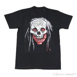 Neue Ankunft Männlichen Tees Casual Jungen T-shirt Tops Rabatte Männer Kannibal Corpse Rundhalsausschnitt Kurzhülse Büro T-shirt von Fabrikanten