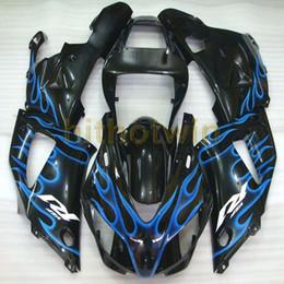 yamaha r1 carenado 1998 1999 Rebajas 23Colors! Bolts + Custom blue flames kit de carrocería de moto para Yamaha YZF-R1 98-99 YZF R1 1998-1999 ABS Fairing de plástico