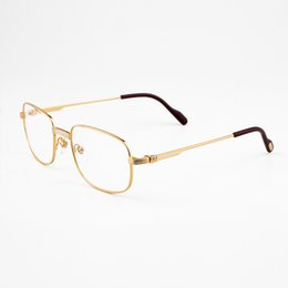 Wholesale Reading Glasses Gold Frame - High Quality Gold Frames Reading glasses Brand Designer Mens Eyeglasses Fashion luxury Square Frame Glasses for Men With Box CT1188006