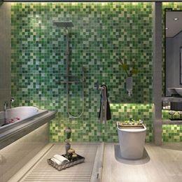 Wholesale aluminum tiles - itchen wallpaper 45x200cm Waterproof Mosaic Aluminum Foil Self-adhensive Anti Oil Kitchen Wallpaper Heat Resistance DIY Wall Sticker ZQ87...
