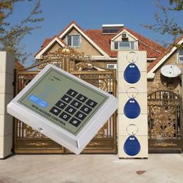 2019 бесконтактные замки Электронная система контроля допуска замка двери входа близости RFID + 10 ключевых Fobs скидка бесконтактные замки