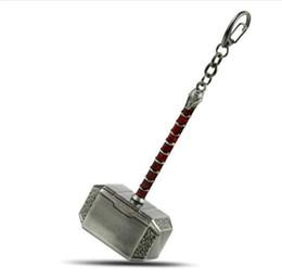 cor do colhedor chaveiro Desconto Thor Mjolnir Martelo De Metal Chaveiro Mjolnir Figura Chave Anel de Pingente De Prata De Ouro Dos Homens Llavero de Jóias Por Atacado