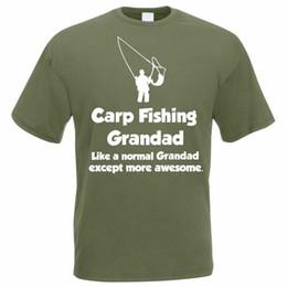 2019 doni divertenti di pesca Funny Fishing T-Shirt - CARP FISHING GRANDAD - Idea regalo pescatore / pescatore