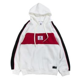 Autumn 2018 Hoodies Streetwear Hip Hop Baggy Pullover Hoodie Sweatshirts  Harajuku Hoodie Fashion Color Block Patchwork Casual 3f4bfb865