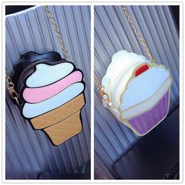 Creme totes online-Mode Frauen Handtasche Umhängetasche Leder Umhängetasche Handtasche Tote XI Ice Cream Cupcake Nette Schulter