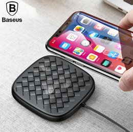 Argentina Baseus Luxury Grid Pattern QI Cargador inalámbrico Ultra Thin TPU 10W Fast Cargador inalámbrico para iPhone Samsung Suministro