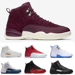 Wholesale mens ski boots 12 - Mens basketball shoes 12 Sunrise Bordeaux Dark Grey Wolf Flu Game The Master Taxi Playoffs French Blue Barons Gym Red Sports Women Seankers