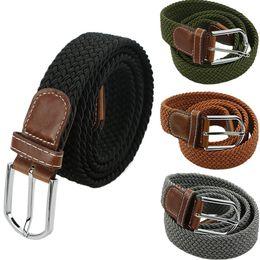Cinturón militar macho caliente Cinturones de lona de lujo elásticos trenzados elásticos de alta calidad de 3,5 cm de ancho desde fabricantes