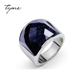anel de homem de ônix Desconto TYME anel de homens do céu estrelado 316L Anel de Titânio Anel de Ônix Preto nunca vai desaparecer dominador Prata Branco Banhado Presente de Natal