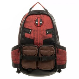 Wholesale Good Quality Laptops - Marvel Deadpool Laptop Backpack Good Quality Same Day Shipping Women's Backpack Bag Make-up