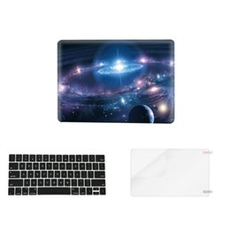 Wholesale Animal Fasion - Starry Sky 3 in 1 Colorful matte Hard Case Plastic Keyboard Cover for macbook pro air laptop(1keycover+1case+1screen proctor)blue