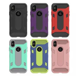 2019 casos do defensor do telefone da pilha Para iphone x case 2in1 robusto defensor heavy duty à prova de choque de volta capa de telefone celular case para iphone x casos do defensor do telefone da pilha barato