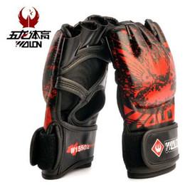 Wholesale taekwondo fighting gloves - Adult Thick Boxing Gloves MMA Gloves Half inger Sanda Taekwondo Fight MMA Sandbag Glove Professional Training Equipment