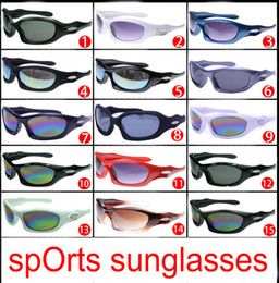 Wholesale Bicycle Beach - brand new summer men Beach sunglasses GLASS LENSES cycling glasses women Bicycle Glass driving Sunglasses 15colors cheap price free shipping