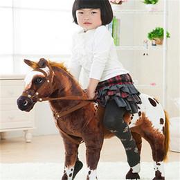 Wholesale Jumbo Plush Stuffed Animals - Fancytrader 35''   90cm JUMBO Funny Stuffed Soft Plush Lovely Animal Horse Toy, Nice Gift For Kids, Free Shipping FT50614