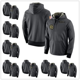 Wholesale Service Camps - Men's Youth Women's Oakland Philadelphia Pittsburgh Seattle Tampa San Francisco Anthracite Salute to Service Player Performance Hoodie