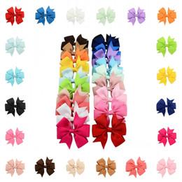 2019 clips de cabelo fita menina Handmade Baby V Rib Ribbon Bow Hairclips Acessórios Para o Cabelo 20 Cores Para Little Girls Moda Presente Suporte FBA Drop Shipping D489Q
