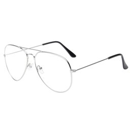 6ceacbccc7 Sunglasses men women 2018 Men Women Clear Lens Glasses Metal Spectacle  Frame Myopia Eyeglasses Lunette