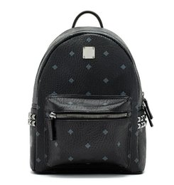 Wholesale Man Satchel Backpack - 2018 Top quality New Brand Designer Stark Backpack Studded Visetos punk women men backpack school bag Duffel Bags DHL free shipping