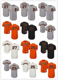 Wholesale Giant Xxl - Men's Majestic San Francisco Giants #27 Juan Marichal 25 Barry Bonds Orange Black White Gray Authentic Baseball Jerseys