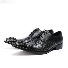 Wholesale Python Heels - 2018 red black python skin genuine leather oxford shoes for men sapato masculino designer classic formal shoes