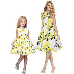 Мать дочь платье богемный пляж платье для праздника мода весна осень мама и я семьи соответствующие наряды мать дети от