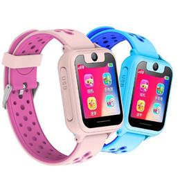 Berührungs-taschenlampe online-S6 Kids Watch S6 1,54 Zoll Touchscreen SOS GPRS Standort Taschenlampe Kamera Kinder Spiel Kinder Smart Watch